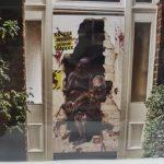 Zombie outbreak door cover decoration