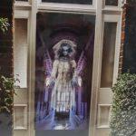 Halloween ghostly door cover decoration