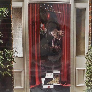 Door cover creepy clowns