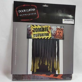 Zombie outbreak door curtain