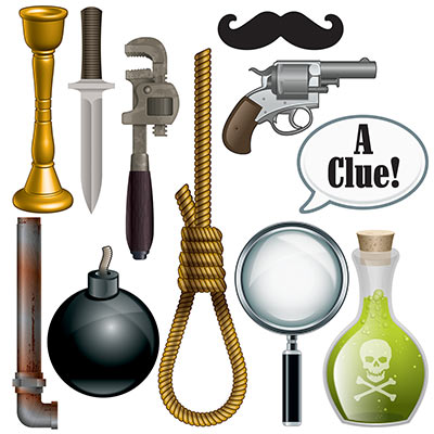 Murder mystery photo props