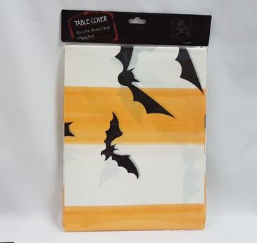 Table cover orange with bats