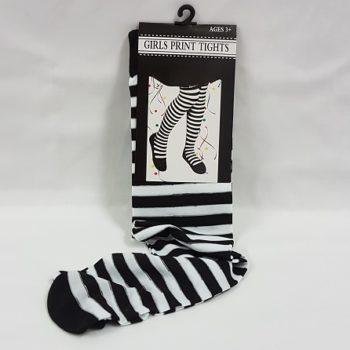 Black & white stripe tights