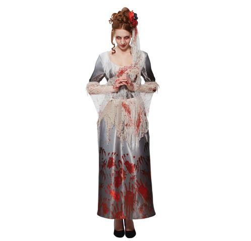 Bloody hands bride dress