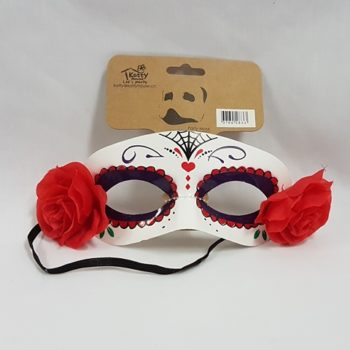 Day of the Dead half face mask white