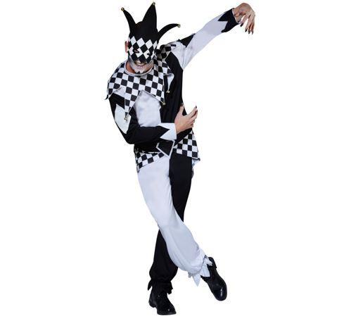 Black & white jester costume