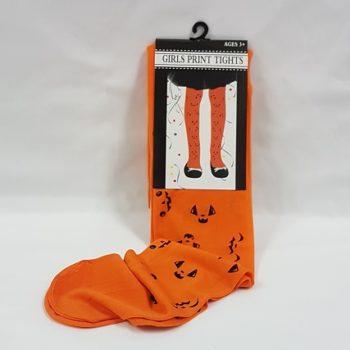 Orange pumpkin tights