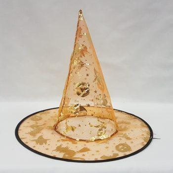 Orange sheer witch hat