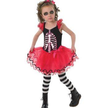 Skull tutu dress child costume