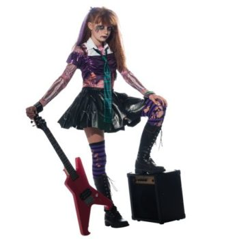 Zombie punk rocker girl costume