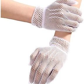 White mesh gloves