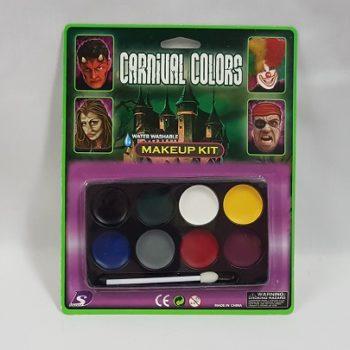 Carnival colours Halloween make up kit