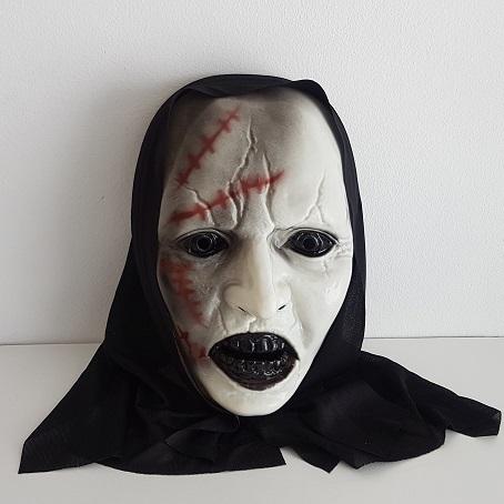 Creepy scarred hooded mask