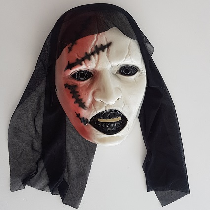 Creepy scarred face mask