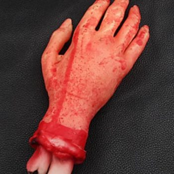 Cut off bloody hand