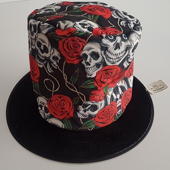 Day of the Dead design top hat