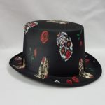 Day of the Dead style top hat