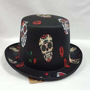 Top hat Day of the Dead