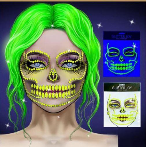 Face art - day glow yellow