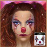 Face art scary clown