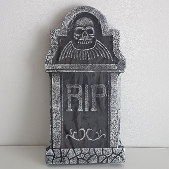 Tombstone with skull & wings