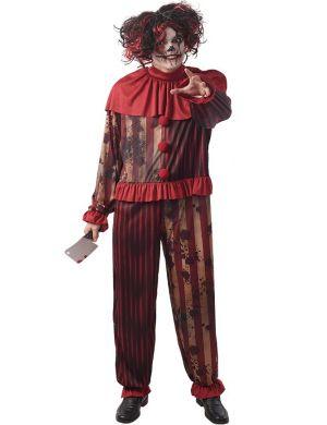 Creepy clown man costume